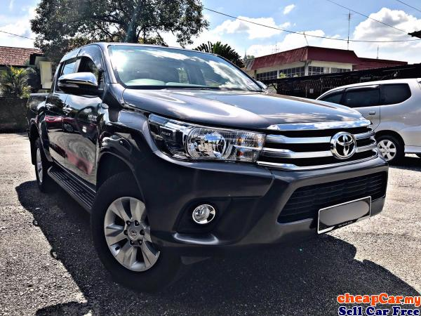 TOYOTA HILUX 2.4 DOUBLE CAB NEW FACELIFT (MANUAL) 2017